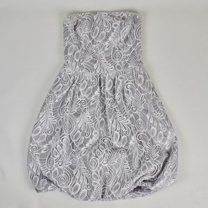 (TRINA TURK) Strapless Lace Mini Dress